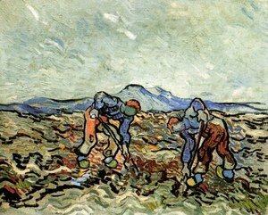 Vincent Van Gogh - Peasants Lifting Potatoes
