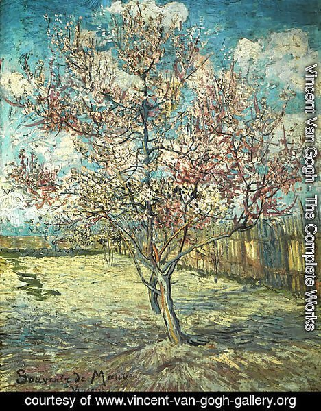 Vincent Van Gogh - Pink Peach Tree In Blossom (Reminiscence Of Mauve)
