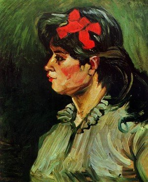 Vincent Van Gogh - Portrait Of A Woman With Red Ribbon