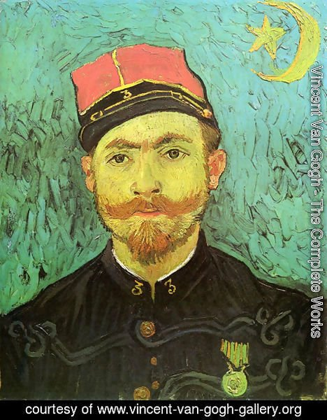 Vincent Van Gogh - Portrait Of Milliet Second Lieutenant Of The Zouaves