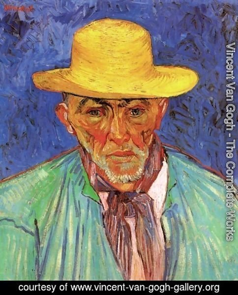 Vincent Van Gogh - Portrait Of Patience Escalier Shepherd In Provence