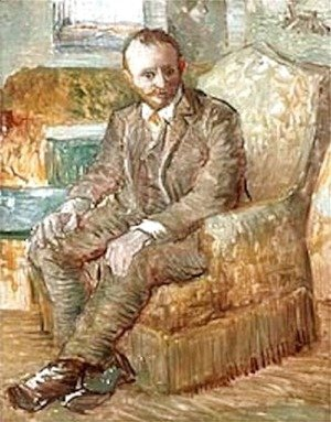 Portrait Of The Art Dealer Alexander Reid Sitting In An Easy Chair