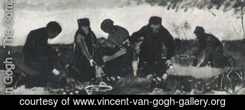 Vincent Van Gogh - Potato Digging (Five Figures)
