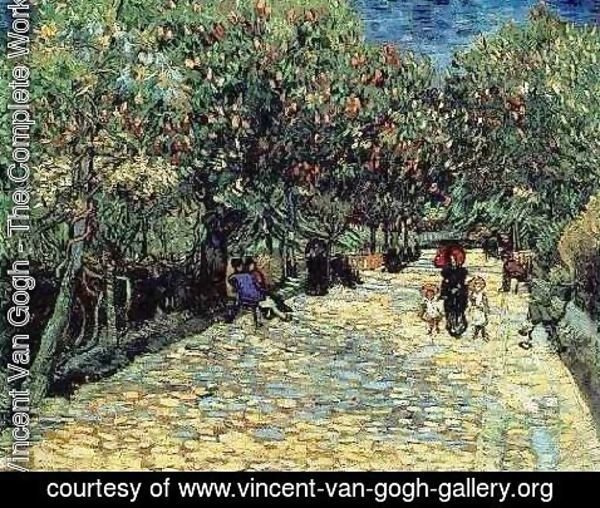 Vincent Van Gogh - Red Chestnuts In The Public Park At Arles