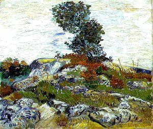 Vincent Van Gogh - Rocks With Oak Tree