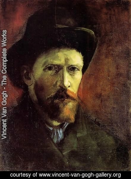 Vincent Van Gogh - Self Portrait With Dark Felt Hat