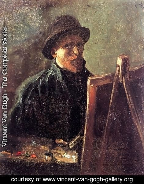 Vincent Van Gogh - Self Portrait With Dark Felt Hat At The Easel
