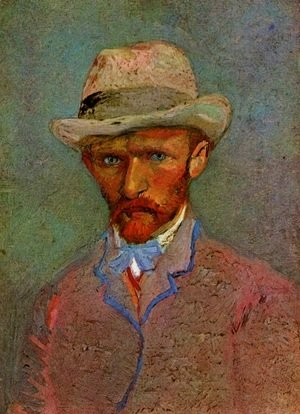 Vincent Van Gogh - Self Portrait With Grey Felt Hat II