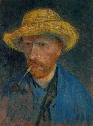 Vincent Van Gogh - Self Portrait With Straw Hat And Pipe