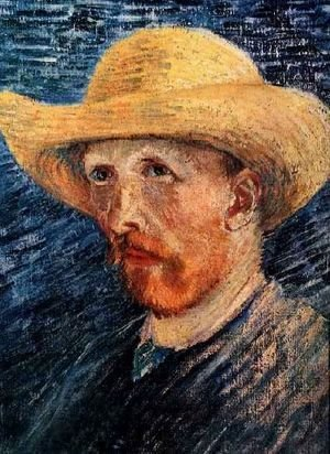 Self Portrait With Straw Hat II