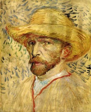 Vincent Van Gogh - Self Portrait With Straw Hat III