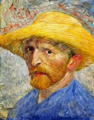 Vincent Van Gogh - Self Portrait With Straw Hat IV
