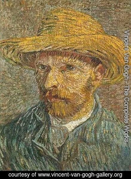 b20a4495fc5 Vincent Van Gogh - The Complete Works - Self Portrait With Straw Hat ...
