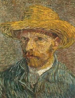 Vincent Van Gogh - Self Portrait With Straw Hat V