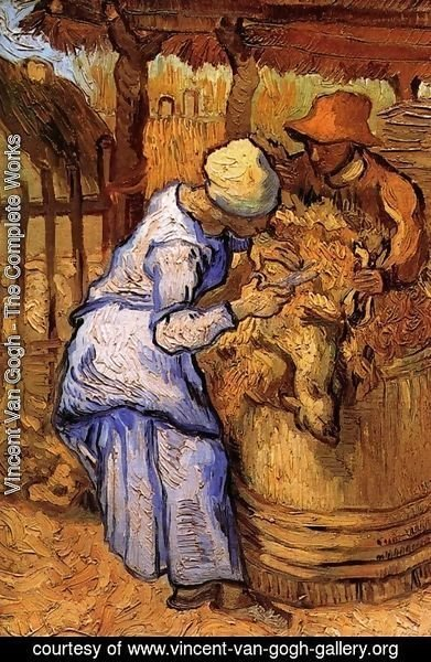 Vincent Van Gogh - Sheep Shearers The (after Millet)