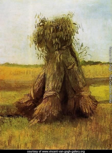Sheaves Of Wheat In A Field