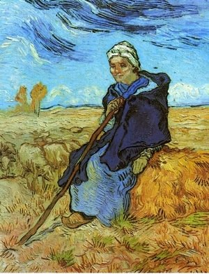 Vincent Van Gogh - Shepherdess The (after Millet)