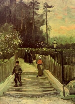 Vincent Van Gogh - Sloping Path In Montmartre