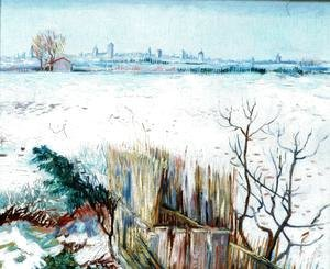 Vincent Van Gogh - Snowy Landscape With Arles In The Background
