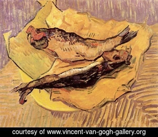 Vincent Van Gogh - Bloaters On A Piece Of Yellow Paper