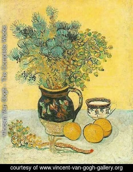 Vincent Van Gogh - Majolica Jug With Wildflowers