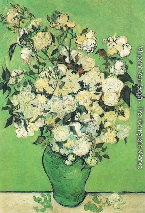 Vincent Van Gogh - Pink Roses In A Vase  sc 1 st  Vincent Van Gogh & Vincent Van Gogh - The Complete Works - Pink Roses In A Vase ...