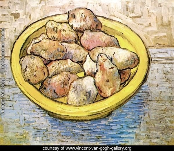 Potatoes In A Yellow Dish