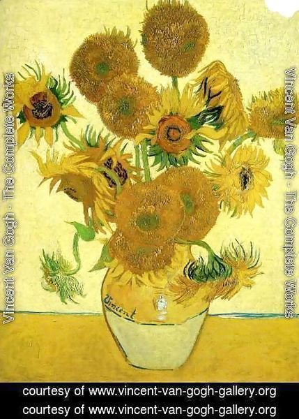 Vincent Van Gogh The Complete Works Vase With Fifteen Sunflowers