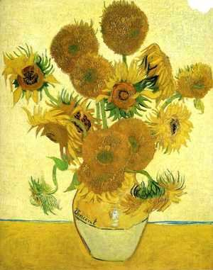 Vincent Van Gogh - Vase With Fifteen Sunflowers