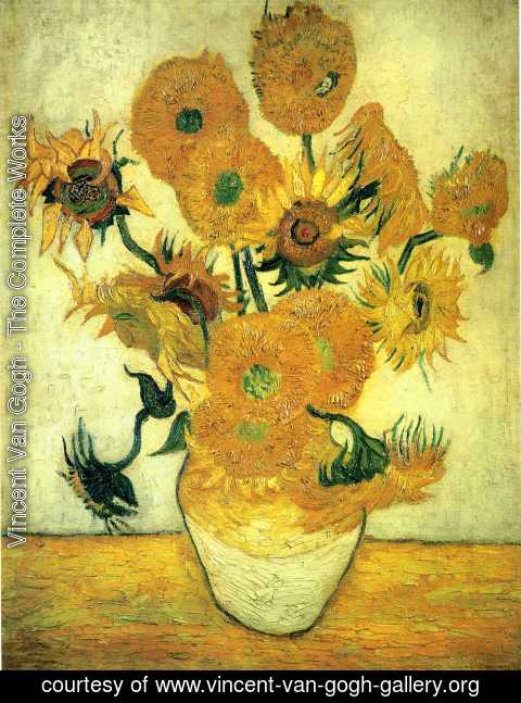 Vincent Van Gogh - Vase With Fifteen Sunflowers III