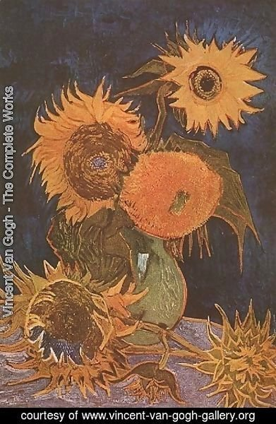 Vincent Van Gogh The Complete Works Vase With Five Sunflowers