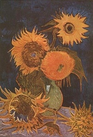 Vincent Van Gogh - Vase With Five Sunflowers