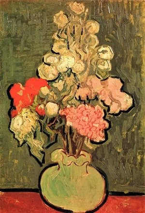 Vincent Van Gogh - Vase With Rose Mallows
