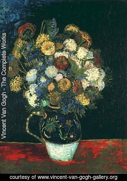 Vincent Van Gogh - Vase With Zinnias
