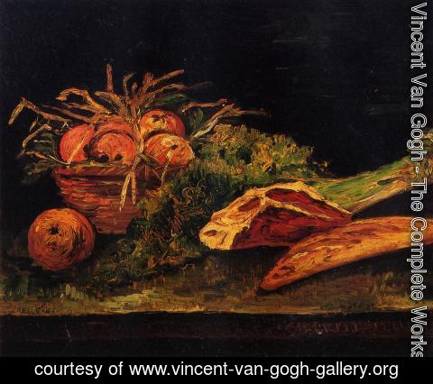 Vincent Van Gogh - Still Life With Apples Meat And A Roll