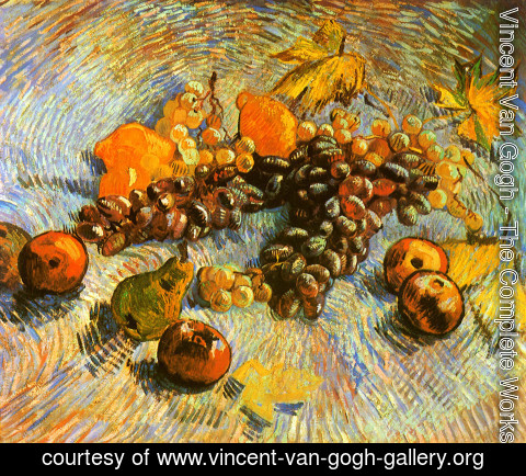 Vincent Van Gogh - Still Life With Apples Pears Lemons And Grapes