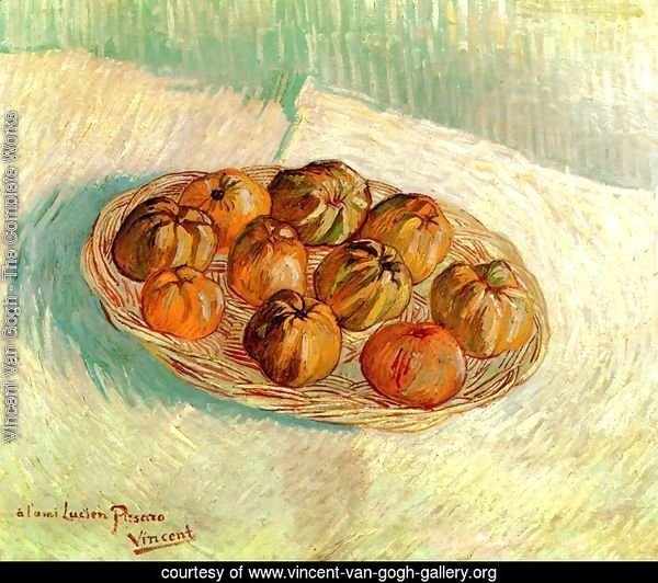 Still Life With Basket Of Apples (to Lucien Pissarro)