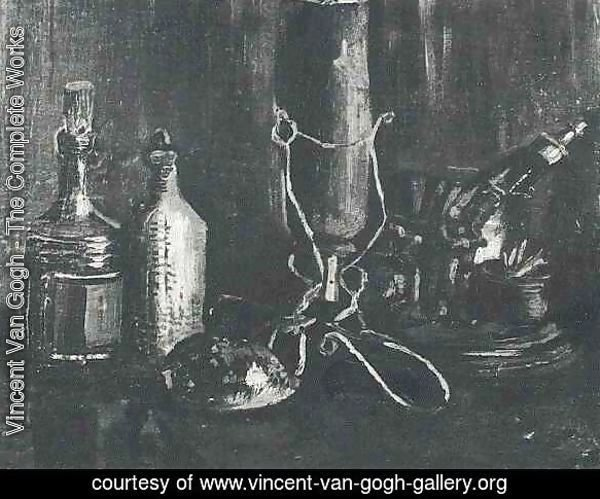 Still Life With Bottles And A Cowrie Shell