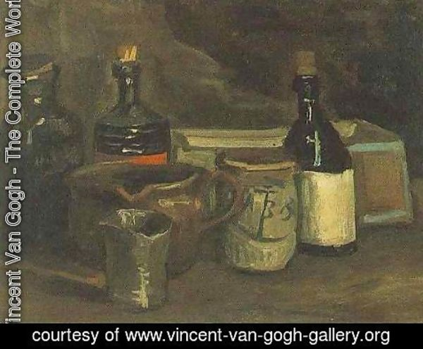 Vincent Van Gogh - Still Life With Bottles And Earthenware