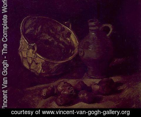 Vincent Van Gogh - Still Life With Brass Cauldron And Jug