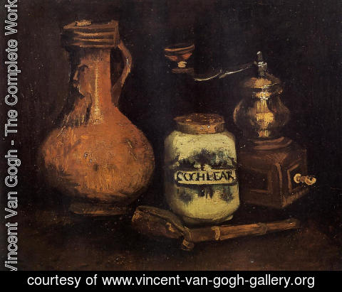 Vincent Van Gogh - Still Life With Coffee Mill Pipe Case And Jug