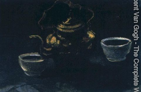 Vincent Van Gogh - Still Life With Copper Coffeepot And Two White Bowls