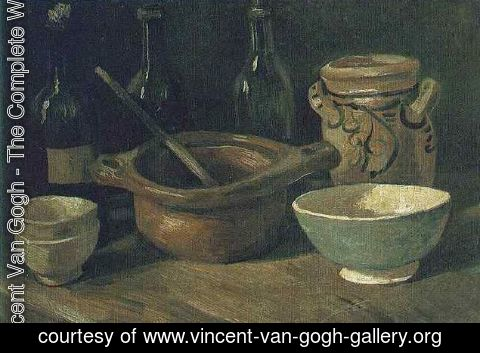 Vincent Van Gogh - Still Life With Earthenware And Bottles