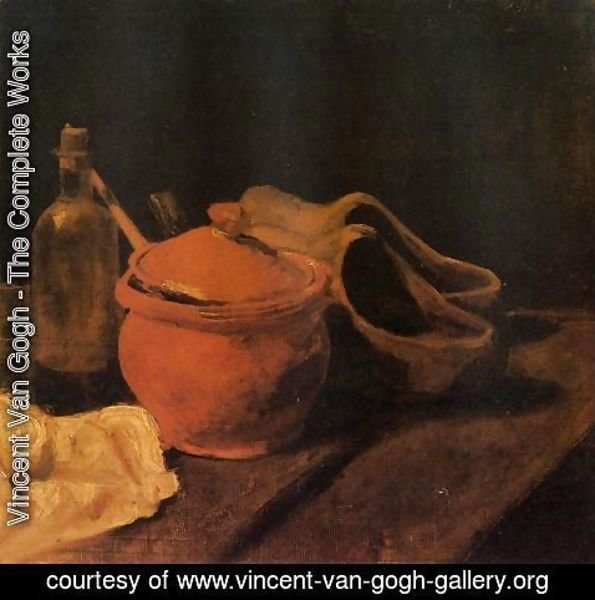 Vincent Van Gogh - Still Life With Earthenware Bottle And Clogs