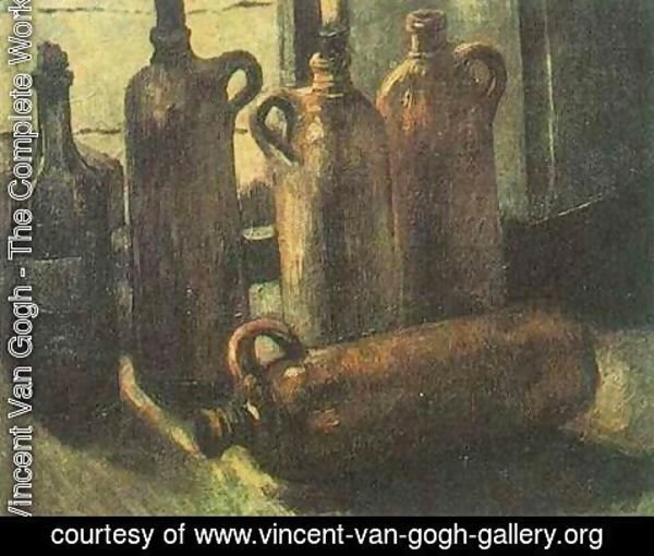 Vincent Van Gogh - Still Life With Five Bottles