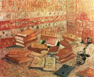 Vincent Van Gogh - Still Life With French Novels And A Rose