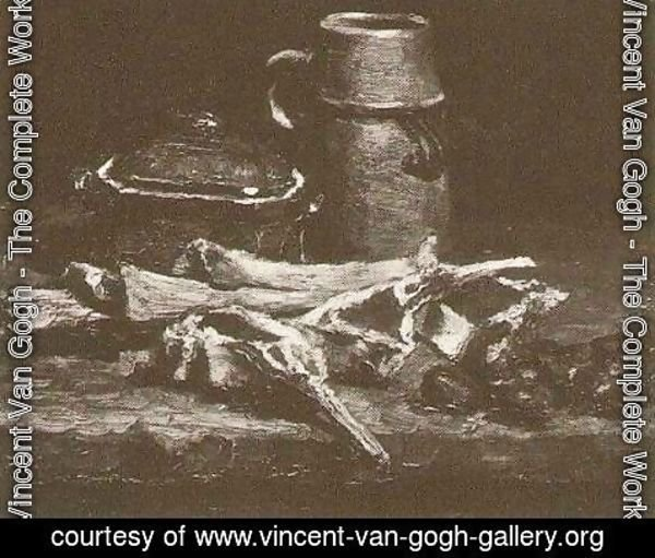 Vincent Van Gogh - Still Life With Meat Vegetables And Pottery