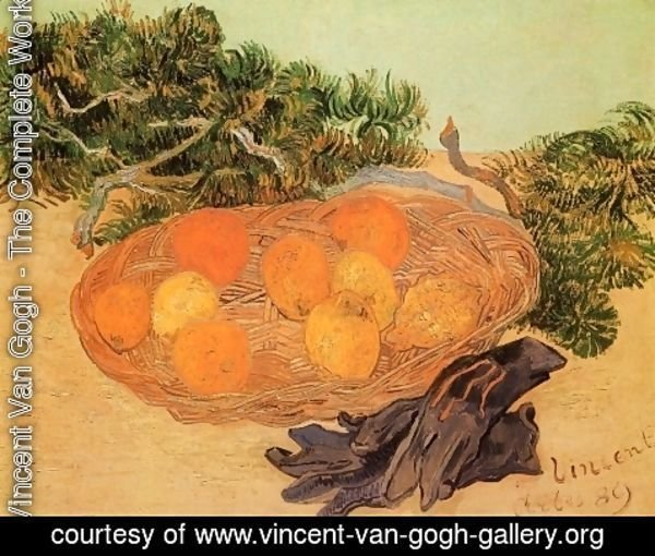 Vincent Van Gogh - Still Life With Oranges Lemons And Blue Gloves
