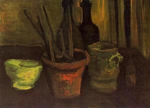 Vincent Van Gogh - Still Life With Paintbrushes In A Pot
