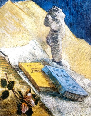 Vincent Van Gogh - Still Life With Plaster Statuette A Rose And Two Novels